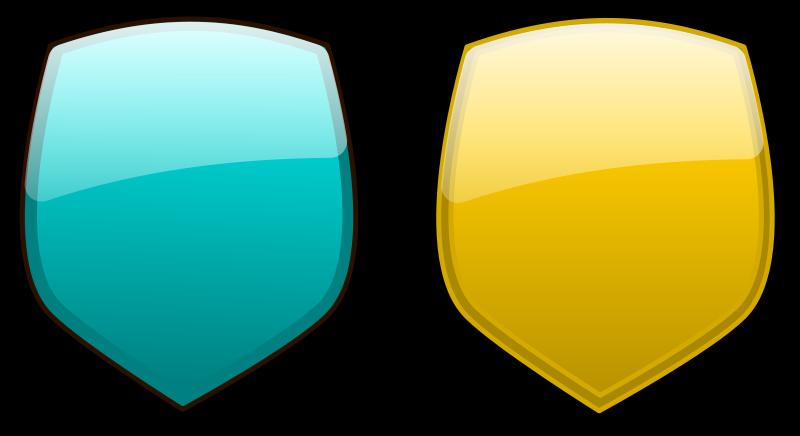 free vector Glossy shields 8