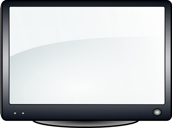 free vector Glossy Tv clip art