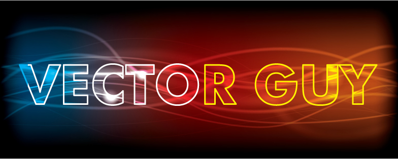 free vector Glowing abstract text effect