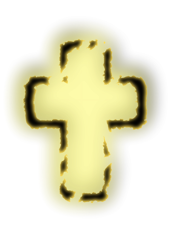 free vector Glowing cross