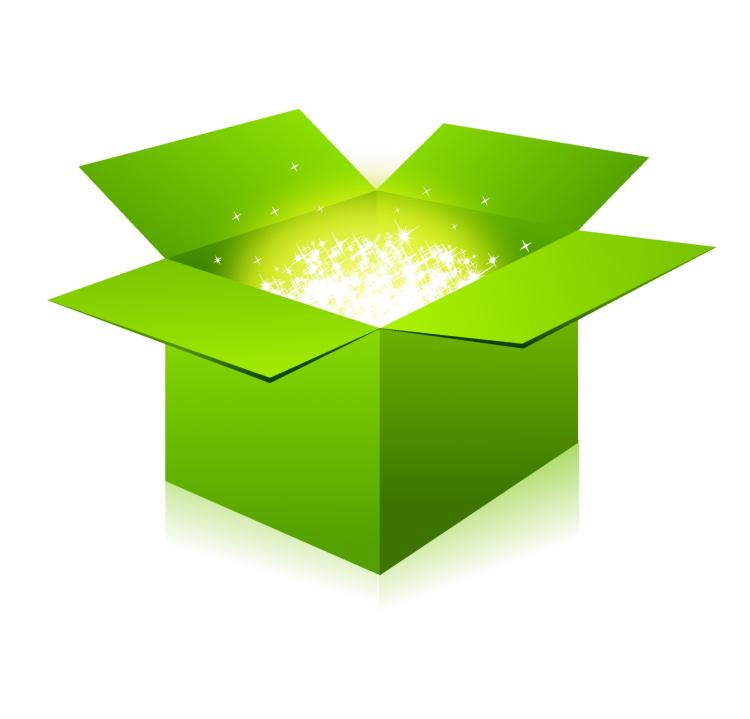 free vector Glowing green box