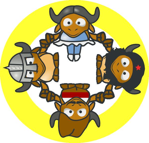 free vector Gnu Circle clip art