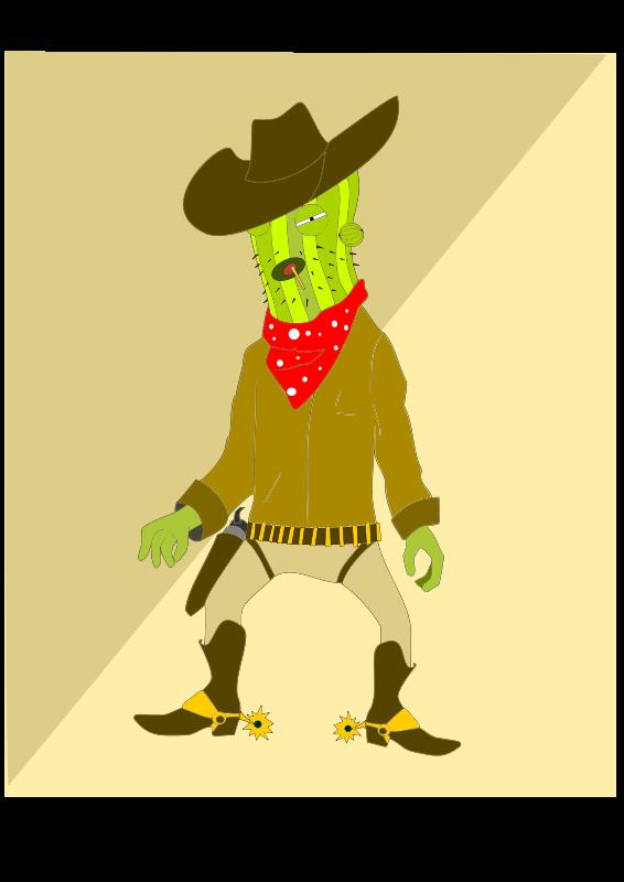 free vector Go go Cactus man