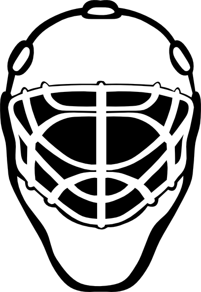 Goalie Mask Simple Outline Clip Art Free Vector 4vector