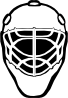 free vector Goalie Mask Simple Outline clip art
