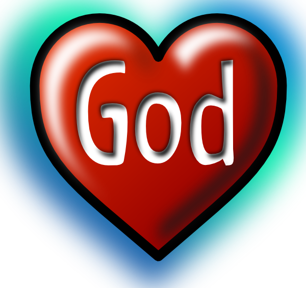 free vector God Heart clip art