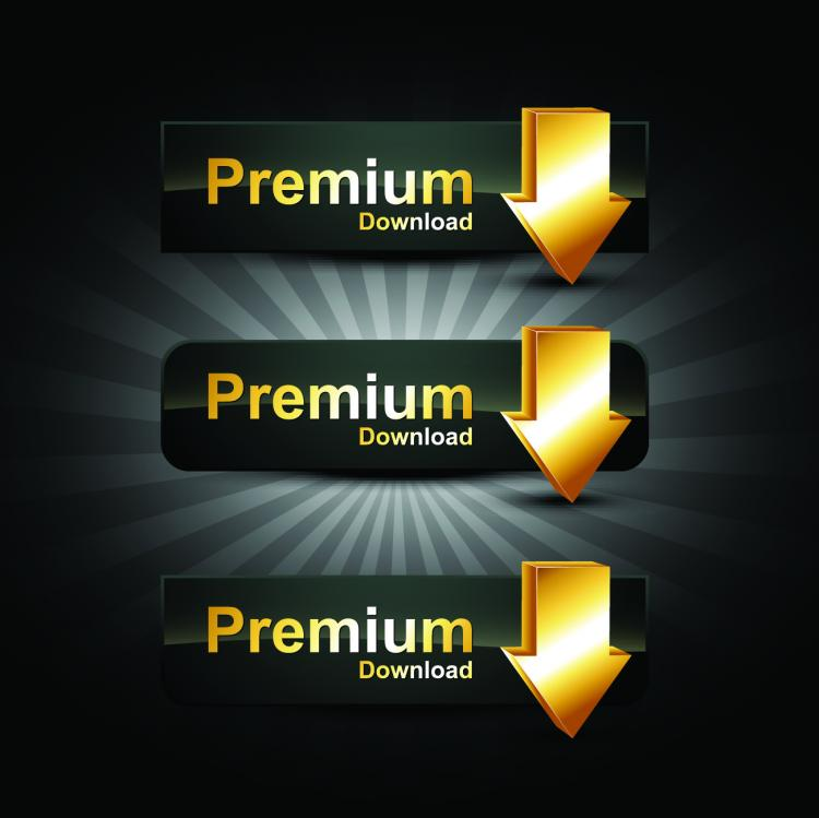 free vector Gold badge labels 06 vector