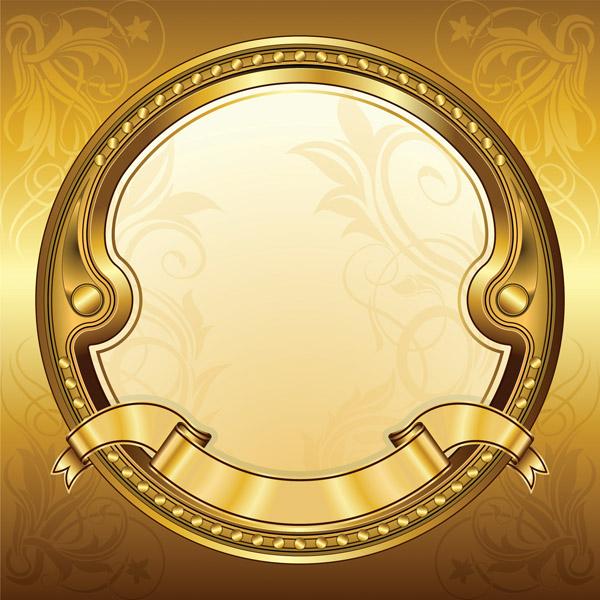 Gold Banner Banner Vector Free Vector / 4Vector