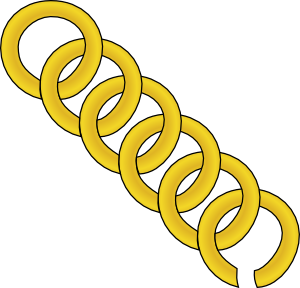 free vector Gold Chain Of Round Links clip art