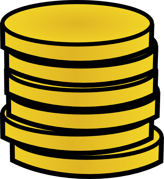 Stack of Coins Vector Gold Coins in a Stack Clip Art