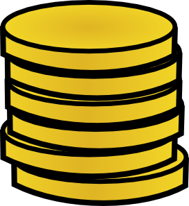 free vector Gold Coins In A Stack clip art