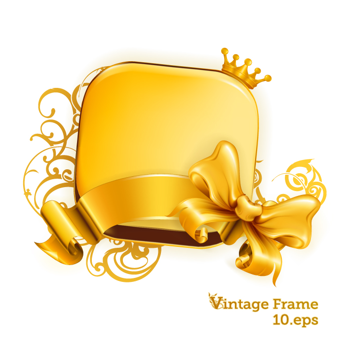 free vector Gold decorative graphics vector