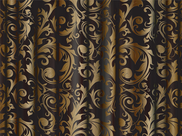 Gold Fabric Pattern Vector Free Vector 4vector