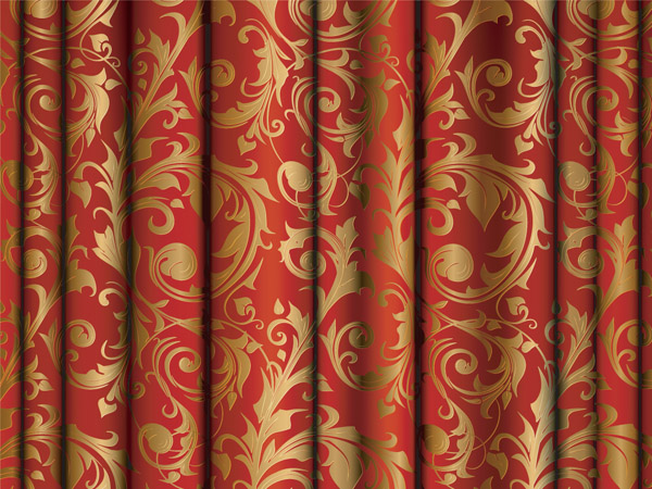 Red Gold Damask Curtains Best Curtains