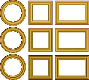 free vector Gold Frames Set clip art