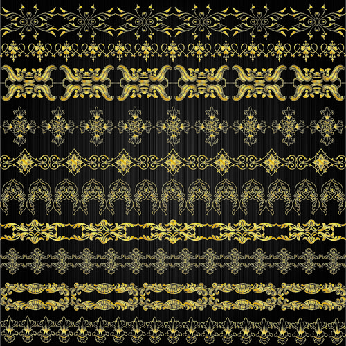 free vector Gold lace pattern 01 vector 22390