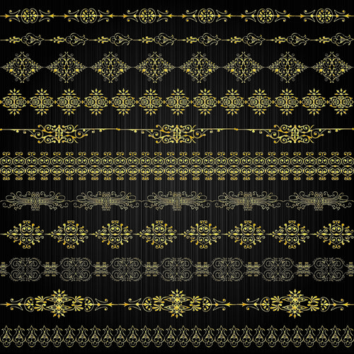 free vector Gold lace pattern 02 vector 22391