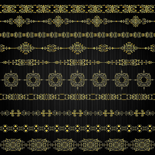free vector Gold lace pattern 03 vector 22392