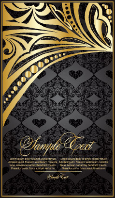 free vector Gold lace pattern vector