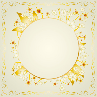 free vector Gold lace vector