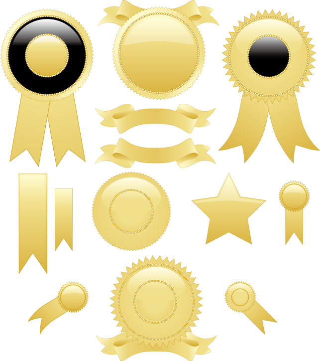 free vector Gold medal element vector