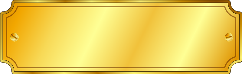 free vector Gold Metal Sign