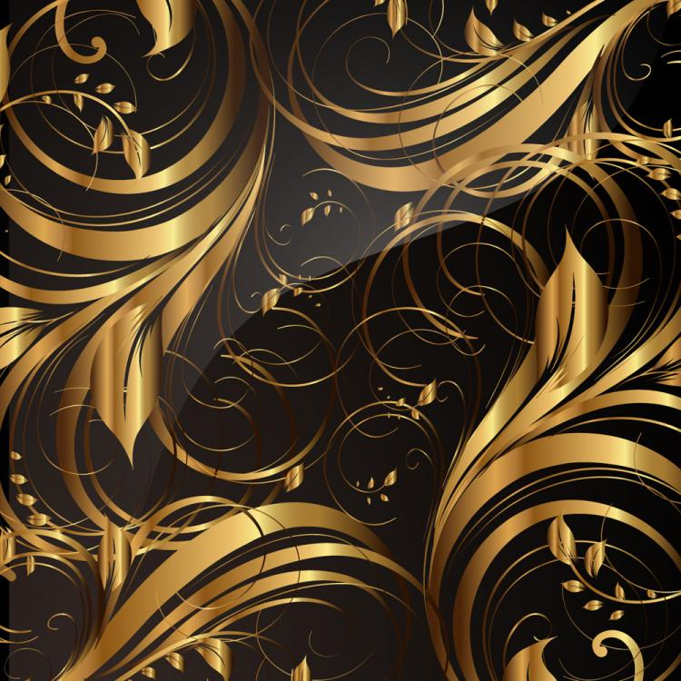 Gold Pattern Patterns 01 Vector Free 4Vector