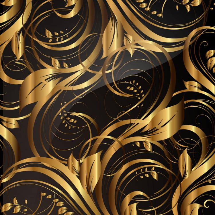 free vector Gold pattern patterns 02 vector