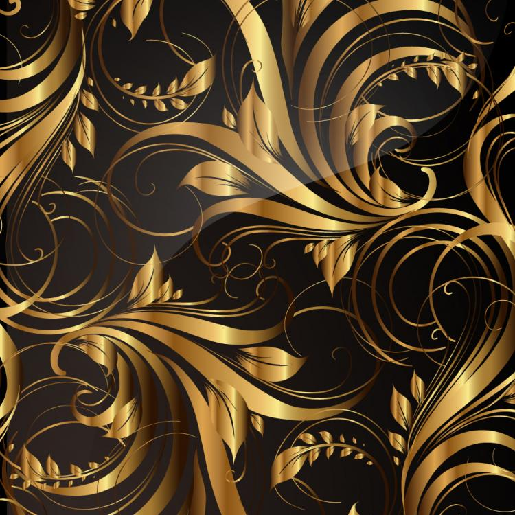 free vector Gold pattern patterns 03 vector