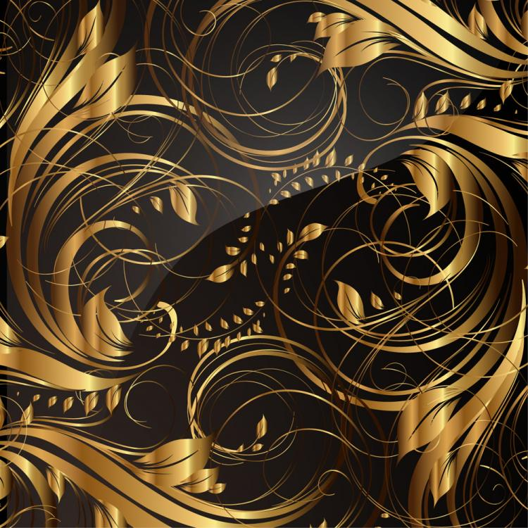 free vector Gold pattern patterns 04 vector
