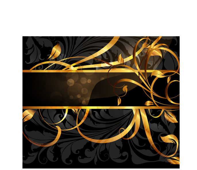 free vector Gold pattern vector 3