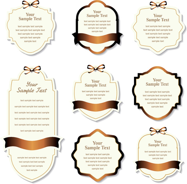 free vector Gold ribbon label vector