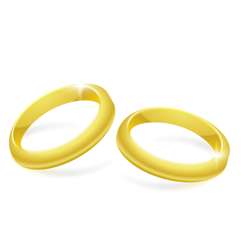 Gold Rings Free Vector / 4Vector