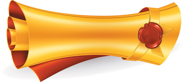 free vector Gold scrolls clip art