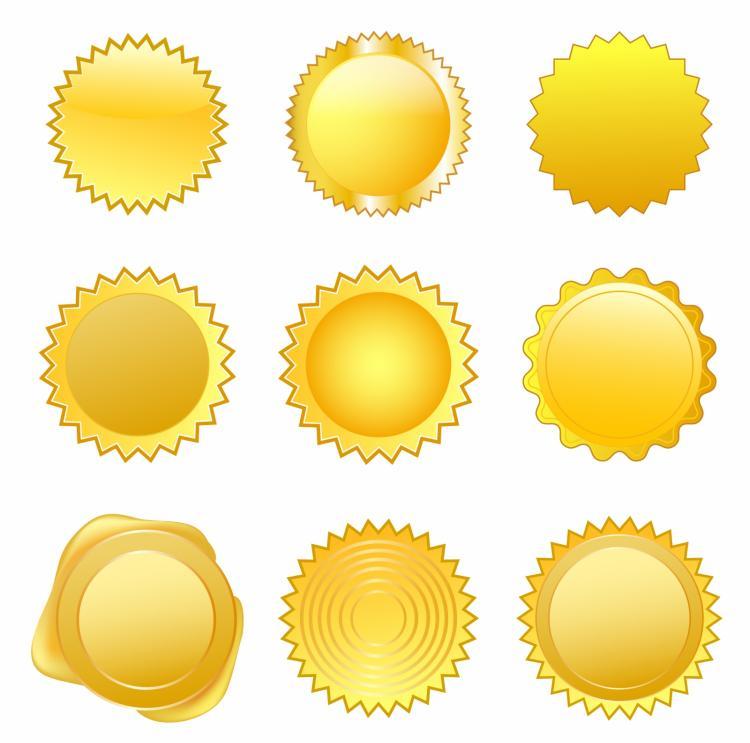 free vector Gold seals