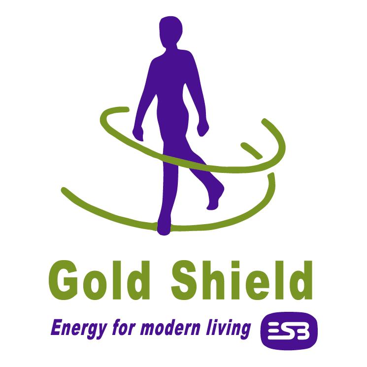 free vector Gold shield