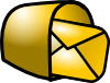 free vector Gold Theme Mailbox Mail clip art