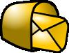 free vector Gold Theme Mailbox Mail clip art