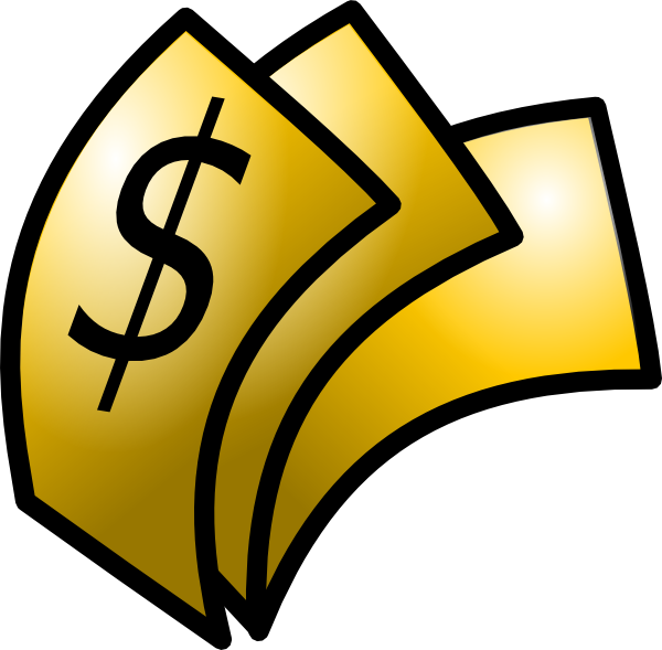 free vector Gold Theme Money Dollars clip art