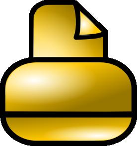 free vector Gold Theme Printer clip art