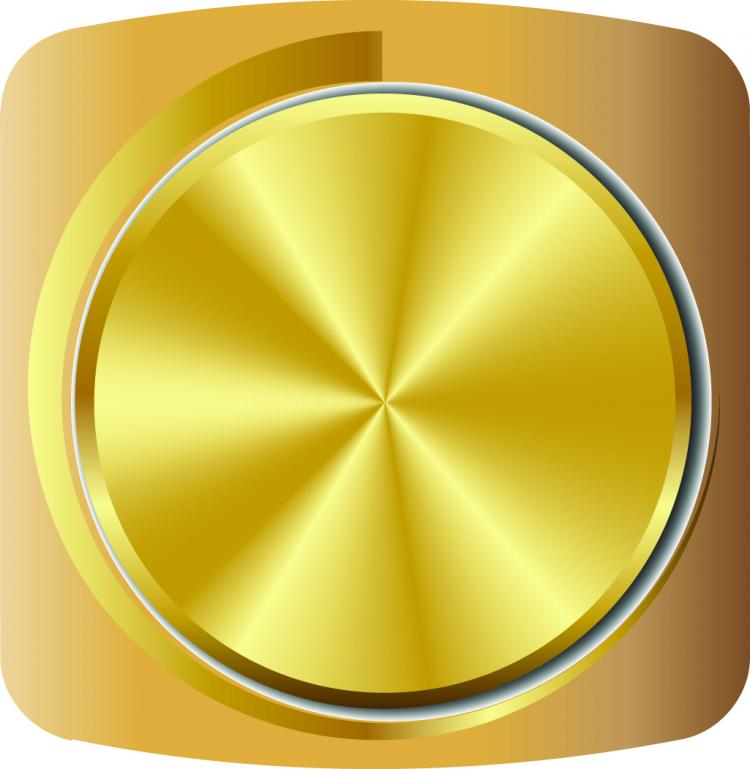 free vector Gold volume knob 01 vector