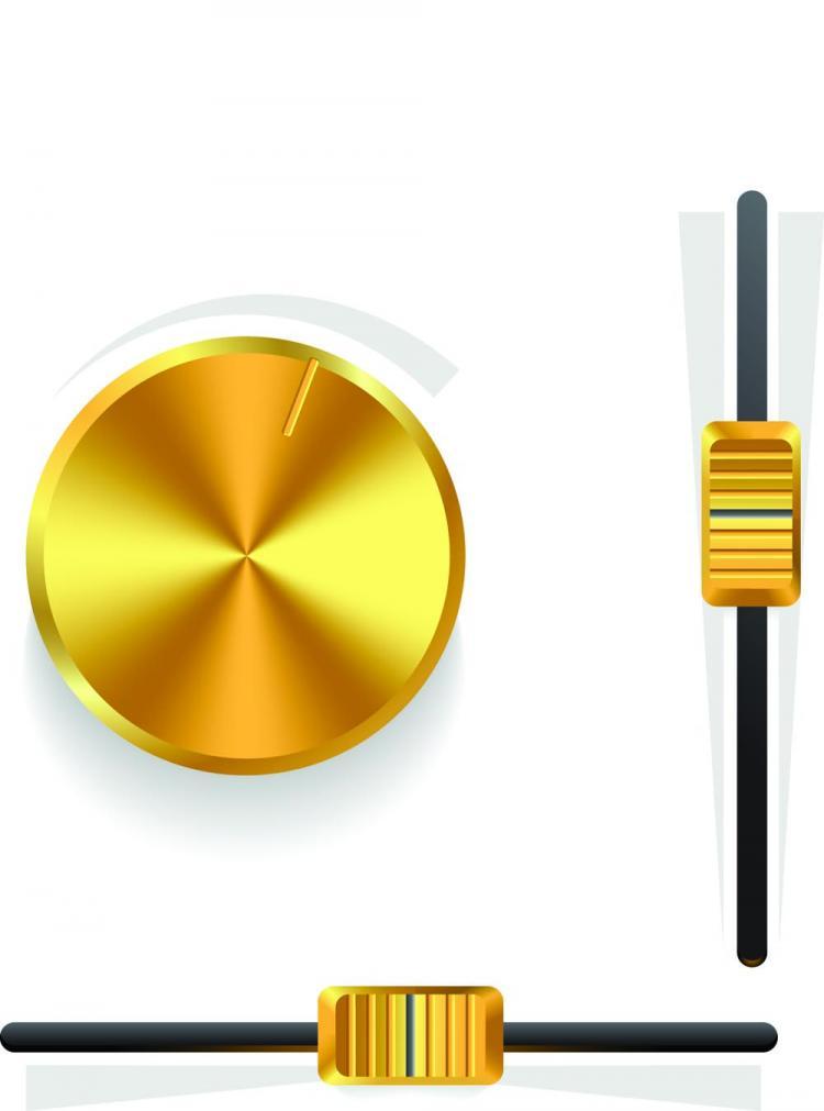 free vector Gold volume knob 03 vector