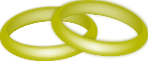 free vector Gold Wedding Rings clip art
