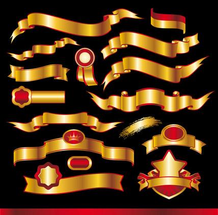 free vector Golden banner vector