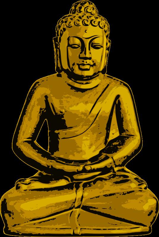 free vector Golden Buddha
