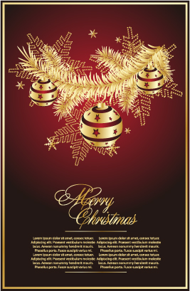free vector Golden christmas theme vector