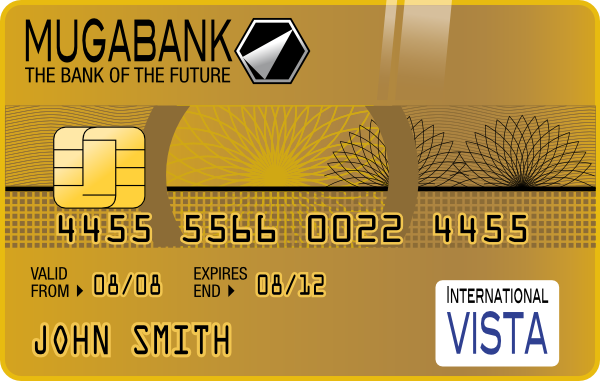 free vector Golden Credit Card clip art