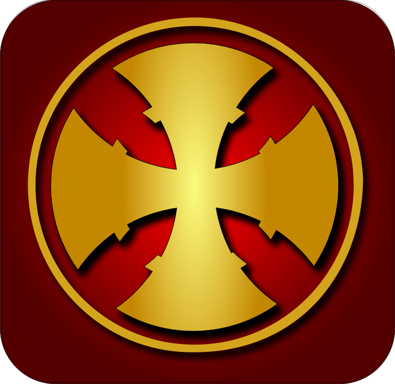 free vector Golden cross 1