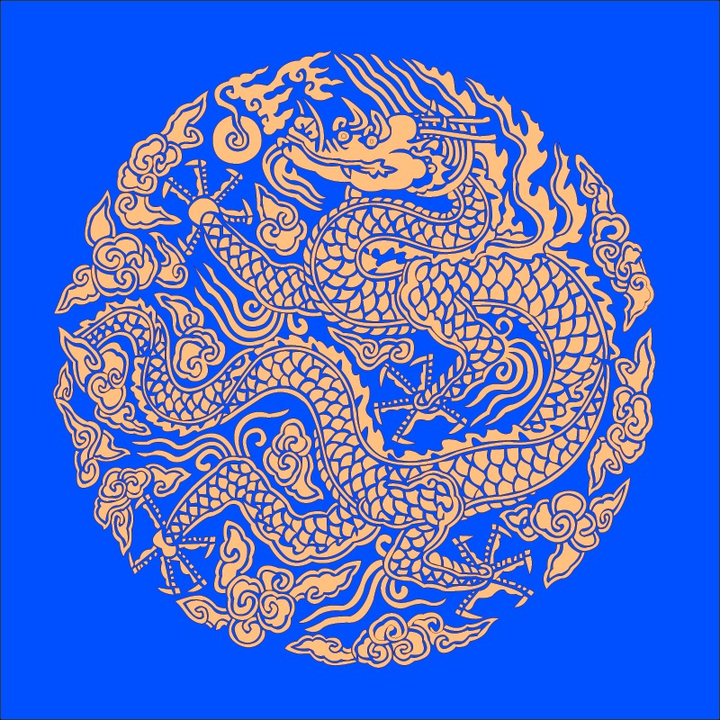 free vector Golden dragon chinese classical circular pattern vector