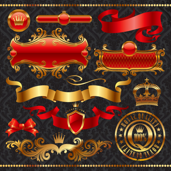 free vector Golden european elements vector